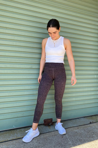 Lilybod X HyperLuxe Exclusive Lotus Legging- Plum Speckle