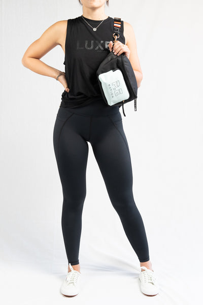 Vie Active Lili Full Length Legging- Black - HyperLuxe Activewear
