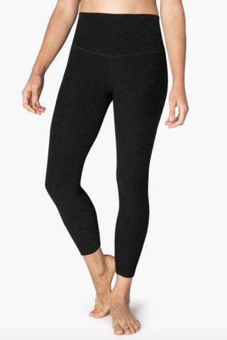 Beyond Yoga Spacedye Yoga High Waisted Midi legging- Darkest Night - HyperLuxe Activewear