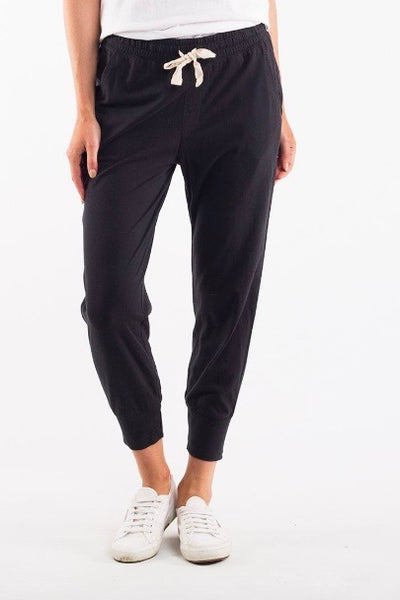Elm Wash Out Lounge Pant- Black - HyperLuxe Activewear