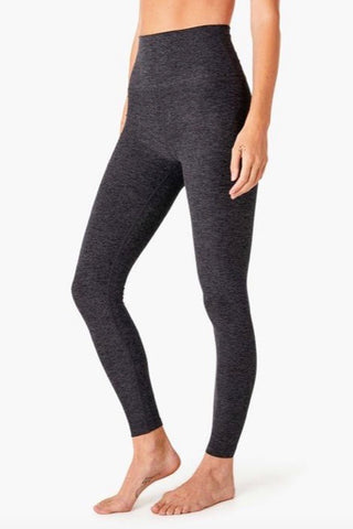 Beyond Yoga High Waisted Midi Legging- Black Charcoal - HyperLuxe Activewear