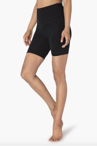 Beyond Yoga High Waisted Biker Short- Darkest Night