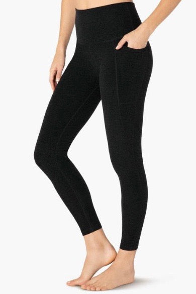 Beyond Yoga Out Of Pocket High Waisted Midi Legging- Darkest Night - HyperLuxe Activewear