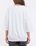 Elm Fundamental Mazie Sweat- White