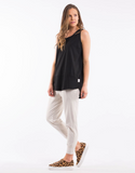 Elm Fundamental Rib Tank- Black