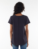 Elm Fundamental Vee Tee- Navy