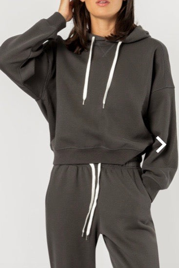 Nude Lucy Carter Classic Hoodie- Coal