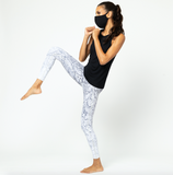 Vie Active X HyperLuxe Exclusive Rockell 7/8 Legging- Black/ White Python