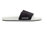 Superga 1908 Pool Slides- Beige Sand Black