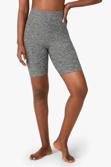 Beyond Yoga High Waisted Biker Short- Black/ White