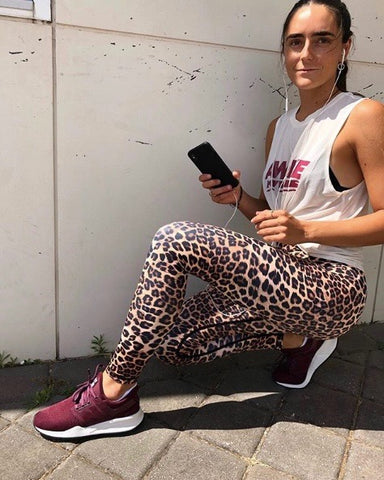 Vie Active Rockell 7/8 Legging- Brown Leopard