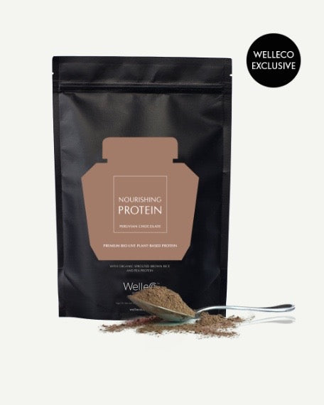 WelleCo Nourishing Protein 1kg Pouch- Chocolate - HyperLuxe Activewear