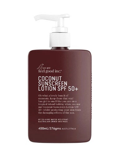 We Are Feel Good Inc. Coconut Sunscreen Lotion SFP50+ - 400ml