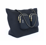 Prene Bags The Bec Bag- Black/ Gold