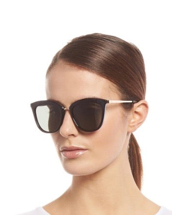 Le Specs Caliente Sunglasses- Black/ Gold