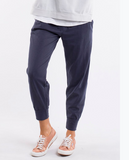 Elm Wash Out Lounge Pant- Navy - HyperLuxe Activewear