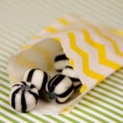 Yellow Chevron Bitty Bags