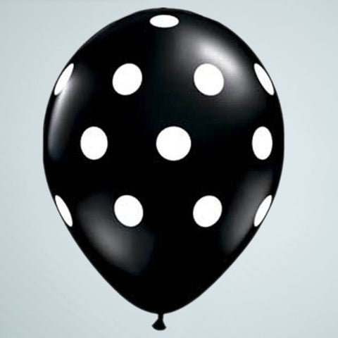 Polka Dot Balloon – Black & White