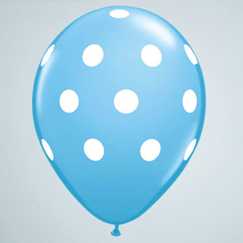 Polka Dot Balloon – Sky Blue