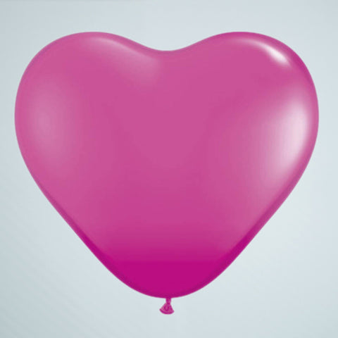 Mini Heart Balloon – Raspberry