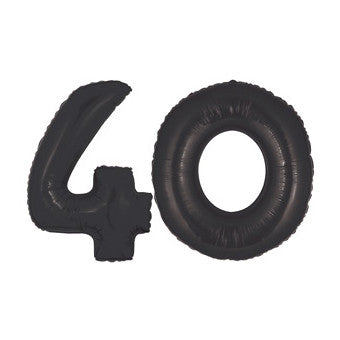 Giant Number Balloons - Black 40