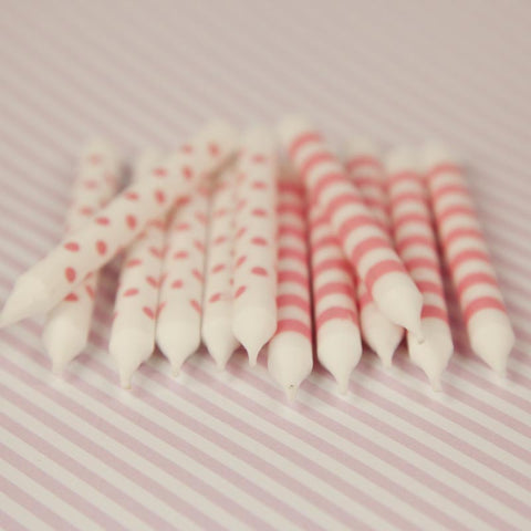 Paper Eskimo Candles – Pink Floss