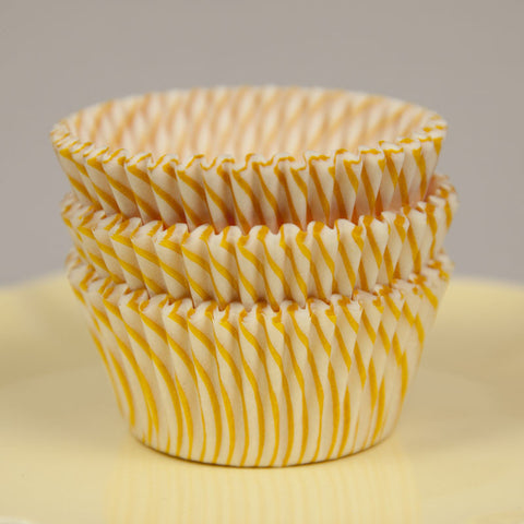 Yellow Swirl Baking Cups