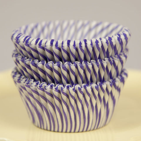 Purple Swirl Baking Cups
