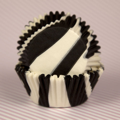 Black Zebra Stripe Baking Cups