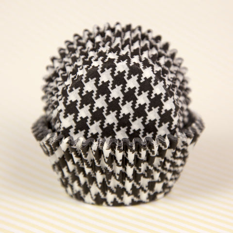 Black Houndstooth Baking Cups