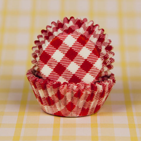 Mini Red Gingham Baking Cups