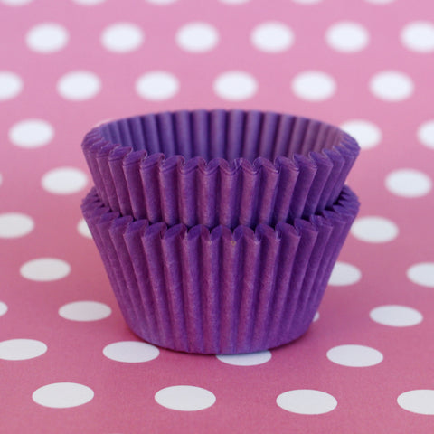 Mini Purple Baking Cases