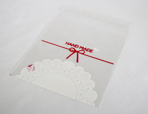 Handmade cellophane favours bags