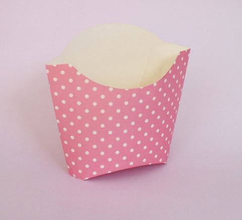 Dotty Fry Boxes - Light Pink
