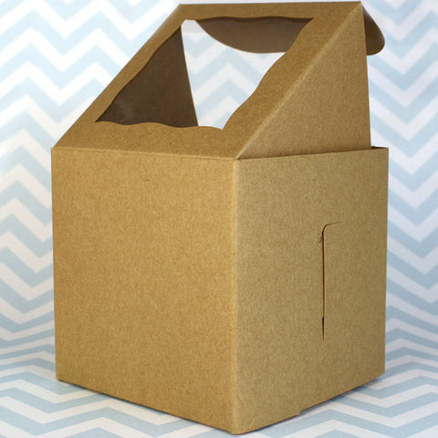 Natural Kraft Cupcake Box