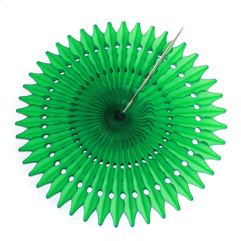 "21"" Emerald Green Tissue Fan"