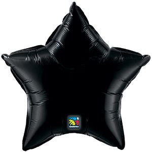 Large Foil Star - Black