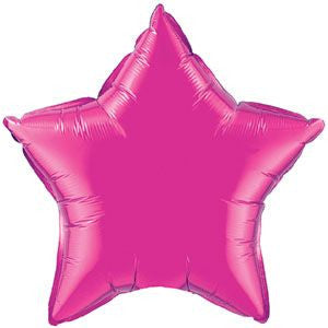 Large Foil Star - Hot Pink