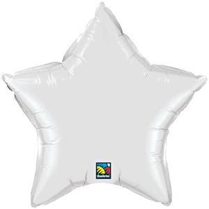 Large Foil Star - White