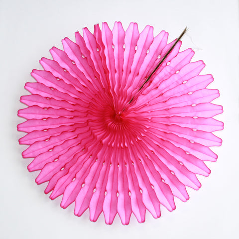 "21"" Hot Pink Tissue Fan"