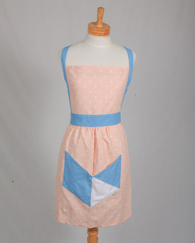 Retro Geometric Apron - Rose Pink