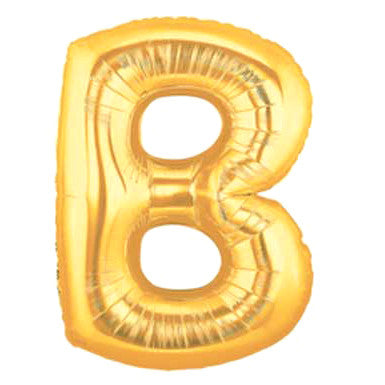 Giant Letter Balloon - Gold B