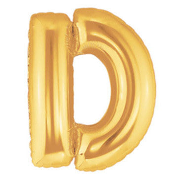 Giant Letter Balloon - Gold D