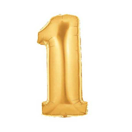 Giant Number Balloon – Gold 1