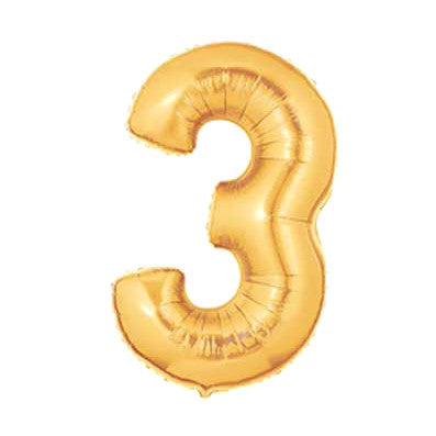 Giant Number Balloon – Gold 3