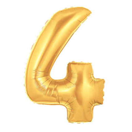 Giant Number Balloon – Gold 4