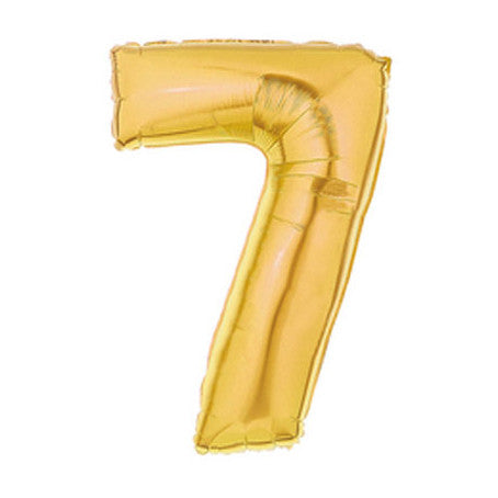 Giant Number Balloon – Gold 7