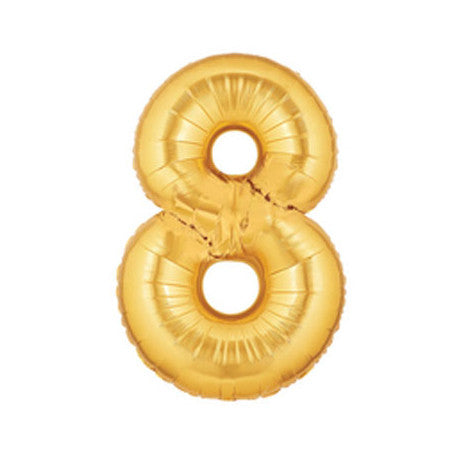 Giant Number Balloon – Gold 8