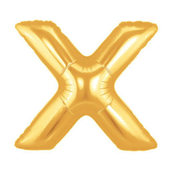 Giant Letter Balloon – Gold X