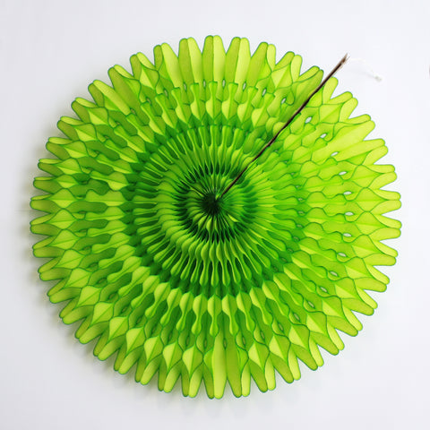 "21"" Lime Tissue Fan"